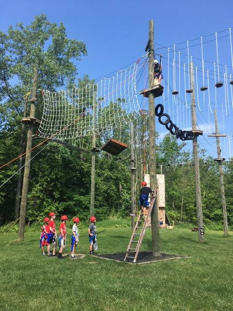 high-low ropes course