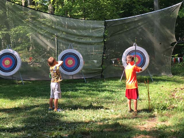 Hiram House Summer Camp archery activities