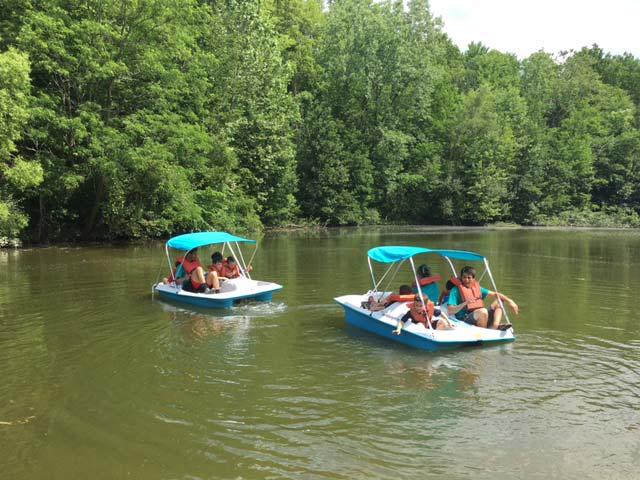 Boating activities at Hiram House Camp
