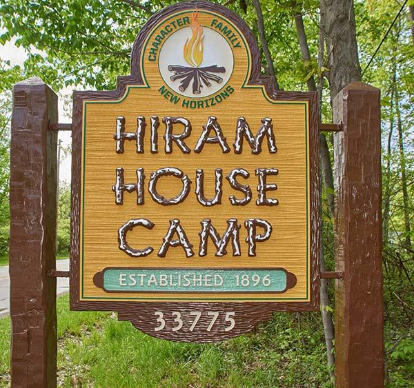 Hiram House Camp Sign